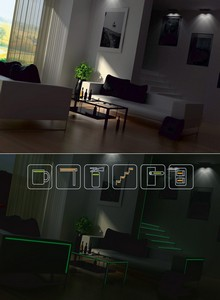 Светящиеся углы мебели