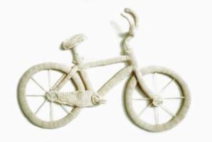 Вязаный велосипед - такого мы еще не видели