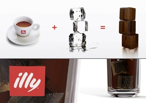 Кубики льда из кофе