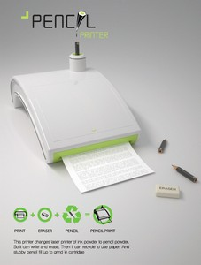 Принтер с карандашом